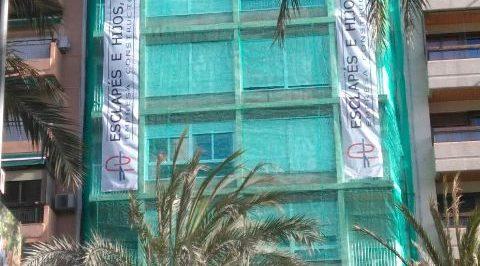 REHABILITACIÓN FACHADA EDIFICIO FEDERICO SOTO ALICANTE - ESCLAPES E HIJOS S.L.