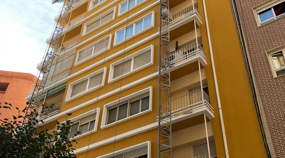 Rehabilitación_Fachada_Edificio_Calle_Zaragoza_Alicante_Esclapes