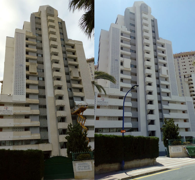 REHABILITACIÓN FACHADA EDIFICIO GURIA BENIDORM